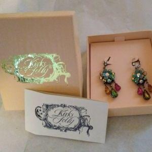 New in box Kirk's Folly beaded dangle earrings